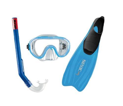 Seac Snorkeling Set Tris Easy Junior, Blau, 28-30