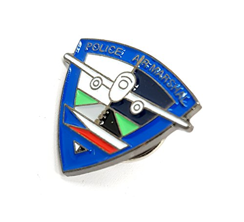Metal Enamel Pin Badge Police Air Marshal Aircraft Plane