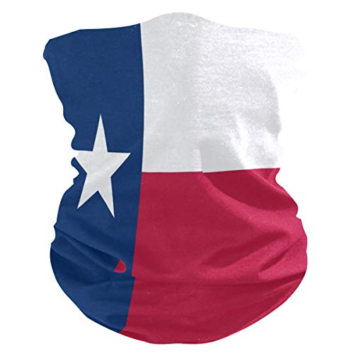 Flag of Texas Multifunctional Seamless Bandanas Dustproof Windproof Face Mask Cooling Sunblock Face Scarf Neck Gaiter (Flag of Texas/TX)