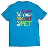 lepni.me Camisetas Hombre Diseño Divertido y Personalizado de su Perro, Gato o Mascota para los Amantes de los Animales (XXL Azul Multicolor)