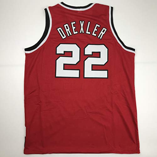 Unsigned Clyde Drexler Portland Red Custom Stitched Basketball Jersey Size Men's XL New No Brands/Logos