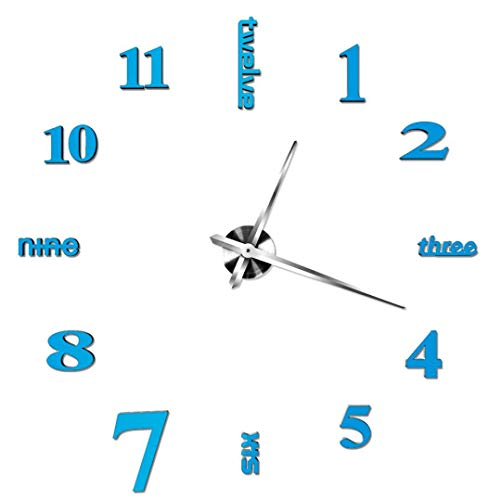 Lounayy Acrylic Modern Silent Wall Clock Diy Funk Wanduhr Geeignet Style 3D Mirror Surface Sticker Home Office Decor Decal 3D Stickers Roman Numerals Wall Clock Home Office Removable Decoration For Li