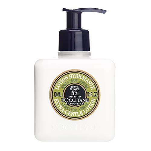 L'Occitane Shea Butter Hands & Body Verbena Extra-Gentle Moisturizing Lotion, 10.1 Fl Oz