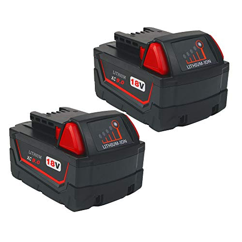 2Pack 18V 9000mAh M18 Battery Replacement for Milwaukee 18-Volt Battery XC 48-11-1890 48-11-1852 48-11-1840 48-11-1850 Lithium-ion Compatible With Milwaukee 18Volt Cordless Tools -  CEENR, CEENR M18 9.0Ah BATTERY