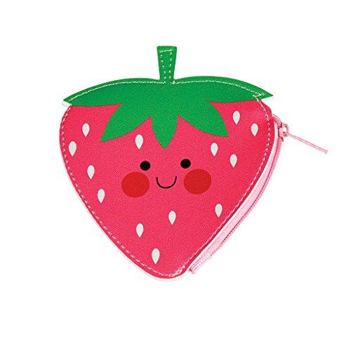 Kindergeldbeutel Kinderportmonaie Münzbeutel Geldbeutel für Kinder Erdbeere