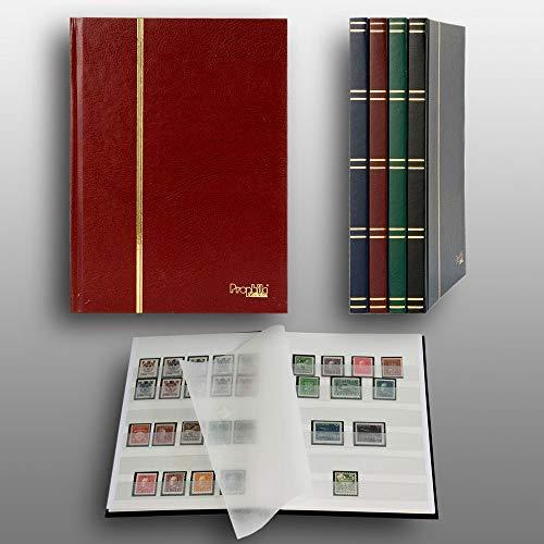 Prophila Collection Petit Album pour Timbres, 16 Pages, intérieur Blanc (couv. Rouge)