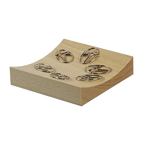 Bestar Wood Magnetic Clip Holder Beech Wood