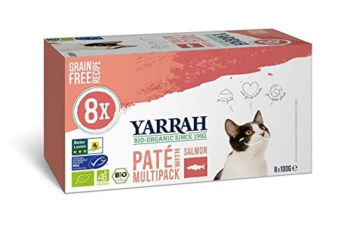 Yarrah Bio Katzenfutter - 8 x 100gr - Lachs - Getreidefrei