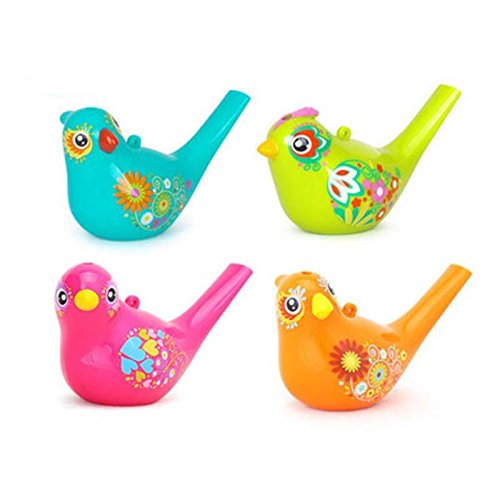TOOGOO Colored Drawing Water Bird Whistle Bathtime Musical Toy para Ninos Aprendizaje Temprano Educational Children Gift Toy Musical Instrument
