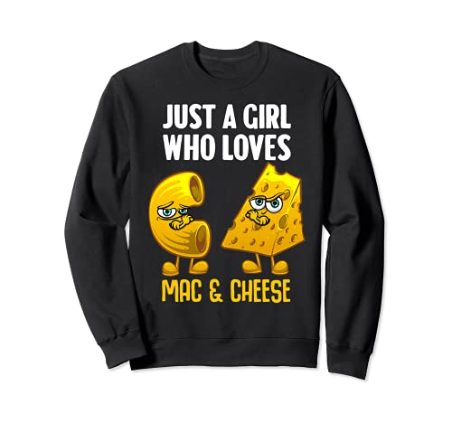 Divertido diseo de Mac y queso para nias mujeres queso macarrones Sudadera