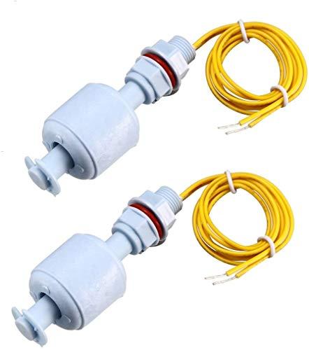 ZHITING 2Pcs Interruptor de Flotador PP para Bomba de Agua Tanque M10 Sensor de Nivel de Agua líquida Cable de 16 Pulgadas