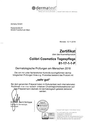 colibri cosmetics Colibri cosmetics tagescreme mit hyaluron serum und arganöl - feuchtigkeitsspendende tagespflege für dein gesicht - naturkosmetik gesichtscreme - made in germany