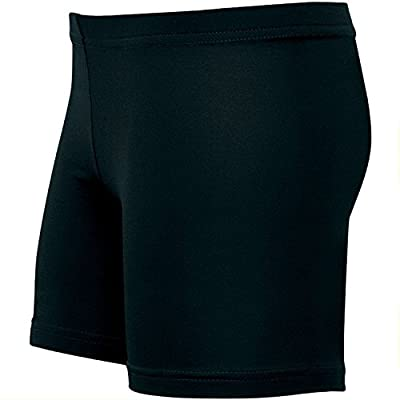 "Volleyball Women's Cut Low-Rise Poly/Spandex Shorts (4"" Inseam, Line and Gusseted for Comfort)"