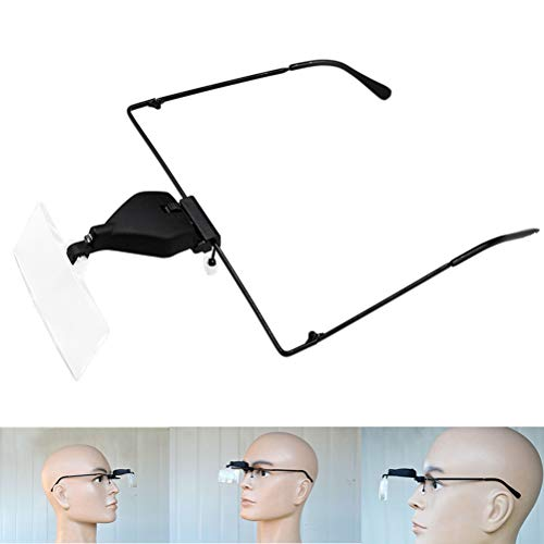 Uonlytech 1 PCP Lupa,Ajustable,Ligera,fácil de Usar,Lámpara LED instalada,sin protección de los Ojos,para Dibujo de artesanía