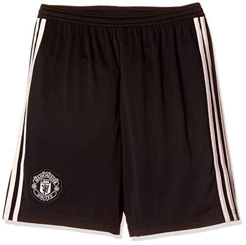 adidas Manchester United FC Auswärts-Shorts für Kinder, 1/4 XL Schwarz/Icey Pink