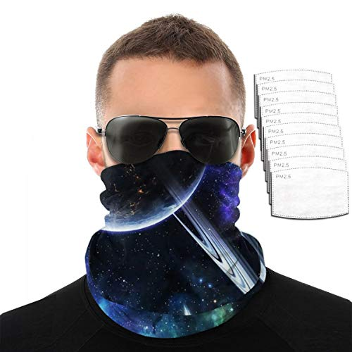 Galaxy Space Men Balaclava, Tactical Mask, Women Sun Hood, Neck Gaiter Dust UV Protection with Filters