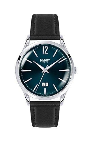 Henry London Orologio Analogico Quarzo Unisex con Cinturino in Pelle HL41-JS-0035