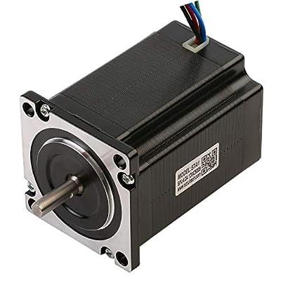 RTELLIGENT Nema 23 Stepper Motor 2 phase 2.8A 1.8Deg 1.3Nm/184.12oz-in 57x57x76mm 6.35mm Shaft Digital Stepping Engine for Laser/CNC Machine