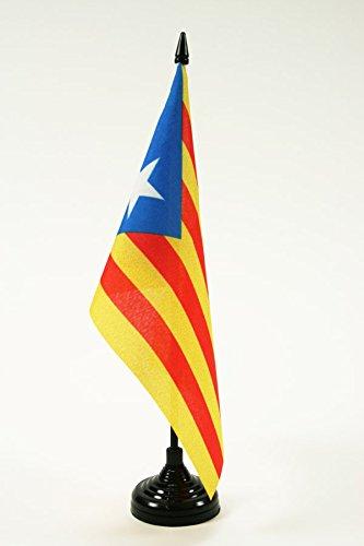 AZ FLAG Drapeau de Table Catalogne Estelada 21x14cm - Petit Drapeaux DE Bureau Catalan indépendentiste - Cataluña 14 x 21 cm