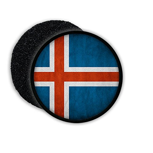 Copytec Patch Iceland Island Isländisch Reykjavík Republik Inselstaat Flagge Fahne Flag Abzeichen Wappen Aufnäher Emblem #20593
