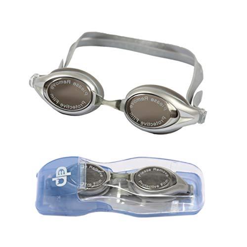 Diapolo Occhialini da Nuoto Nox con Lenti Riflettenti perfette per Uso Interno ed Esterno per Donne e Uomini (Grigio)