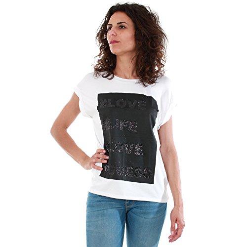 Guess W64I08-K54B0-A000-N, T-Shirt Donna, Bianco (True White), EU 36 (IT - S)