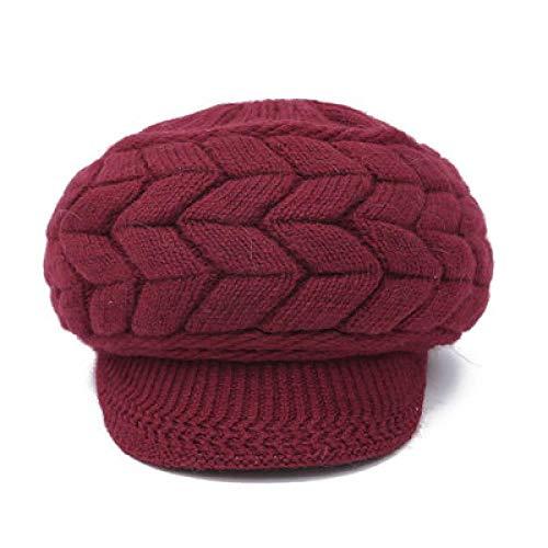 Barett Cap Mode Baskenmützen Für Frauen Gestrickte Wolle Flache Kappen Französisch Stil Vintage Mütze Hut Damen Klassische Baskenmütze Mädchen Warmer Hut 3