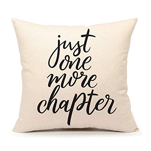 'Just One More Chapter' Cushion Cover
