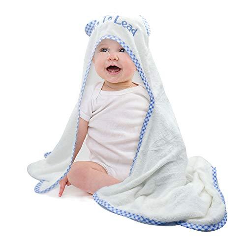 Lyneun Babybadetuch Mädchen und Junge,Baby Handtuch mit Kapuze,Bio-Bambus Badetuch,Super weiches saugfähiges Neugeborenenhandtuch,Hypoallergenes Badetuch,55 * 54 * 39cm