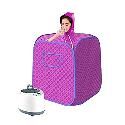SEAAN Portable Steam at Home Sauna, Upgrade 2L Steamer, Lightweight Tent, One Person Full Body Spa for Weight Loss Detox Therapy