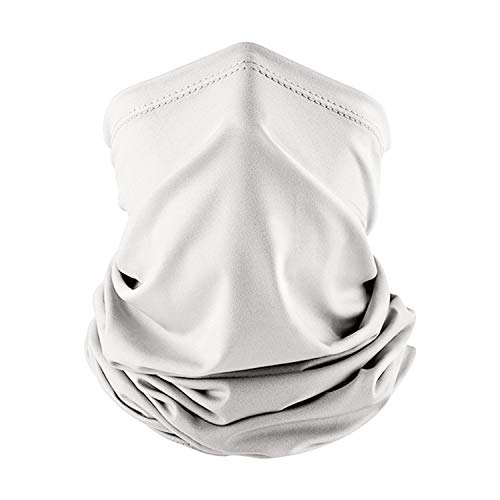 Cycling Scarf Sun Protection Face Cover Summer Solid Color Neck Gaiter (Light Gray)