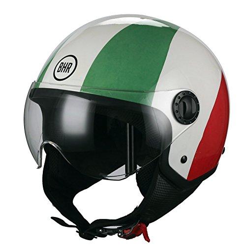 BHR 27022 Motorrad Helm Demi-Jet Line One 801, Italien Flagge, XL (60 cm)
