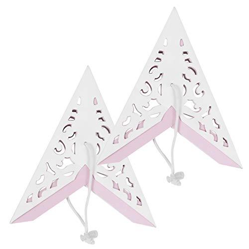 BESPORTBLE 2 Piezas de Papel Linterna Estrella Pantalla 7 Puntos 3D Origami Estrella Pentagrama Pantalla Decoración Estrella Colgante Luz para Decoraciones Colgantes de Fiesta de Boda 35Cm