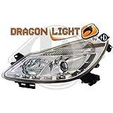 Set di fanali corsa D con barra luci di posizione LED (vetro chiaro/cromato)
