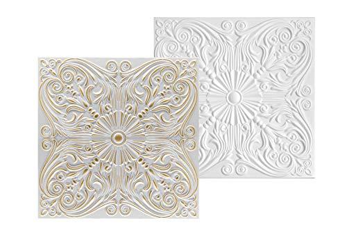 10 qm |Deckenplatten | XPS | formfest | Hexim | 50x50cm | NR.76 S-Z