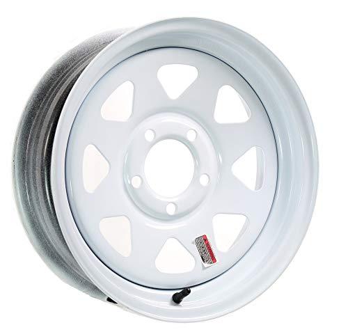 eCustomrim Trailer Wheel Rim 15X5 J 5-4.5 White Spoke 2150 Lb. 3.19 Center Bore