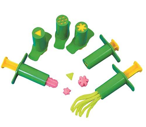 YeahiBaby - Juego de 6 jeringas de plástico para extrusión de jeringuillas de pasta de modelar y para niños