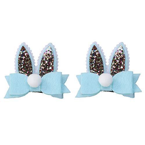 BESTOYARD 1 Paire de Pinces à Cheveux Bowknot Lapin Oreille épingle à Cheveux Cheveux Papillon Accessoires de Cheveux pour Enfants Filles (Bleu)
