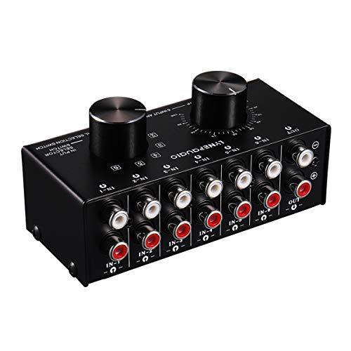 6ポート オーディオスイッチャー RCAコンポジット 6 in 1 out ビデオ AV スイッチ セレクター スイッチャー スプリッター ボックス 一年保証