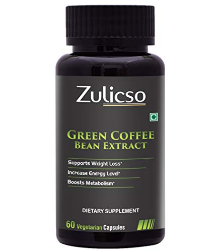 Zulicso Pure & Natural Green Coffee Bean Extract - 60 Veg Capsules