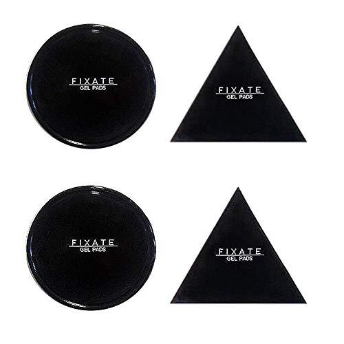 Tianhaixing Fixate Gel Pads mit zuverlässiger Haftung, erhältlich für alle Oberflächen wie Armaturenbrett, Handyhalter und Ablage, Sticky Restorable Fixate Antirutschmatte | Klebepads [4er Pack]