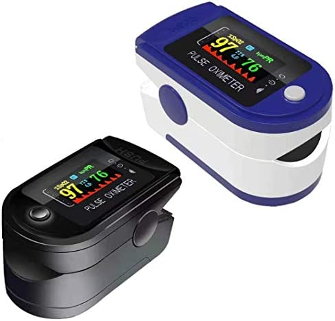2PCS Fingertip Heart Rate Monitor and Levels Upgrade Measuring SP O2 Saturation King Finger product image