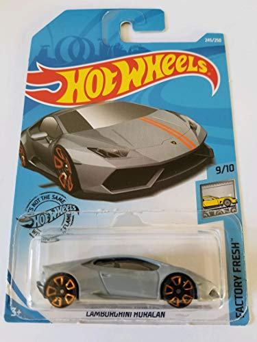 Hot Wheels 2019 Factory Fresh Lamborghini Huracan 245/250, Gray