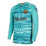 Nike Unisex-Kinder Fc Barcelona Keepersshirt Trikot, Hyper Jade/Negro, XL