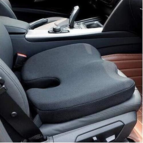 Diverse Memory Foam antiscivolo rimanenze Cuscino Pad, cuscini di seduta auto regolabili, Adulto Car Seat Booster Cuscini robusto (Color : Black)