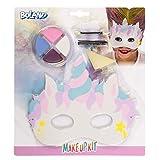 Boland 45112 – Juego de maquillaje pequeño unicornio, paleta de maquillaje, 4 colores con aplicador, esponja, lápiz de maquillaje y máscara, disfraz, carnaval, fiesta temática, Halloween