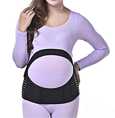 TUDUZ Bauchgurt Stützgürtel mit Verstellbarem Klettverschluss für Schwangerschaft Gymnastik Yoga Sport für Damen Bauchband, Bauchstütze, Schwangerschaft Gurt(Small,Schwarz)