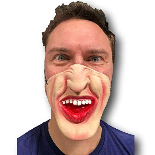 Rubber Johnnies TM Aux Noix Professeur Masque Latex Film FX Quality Déguisement Masquerade