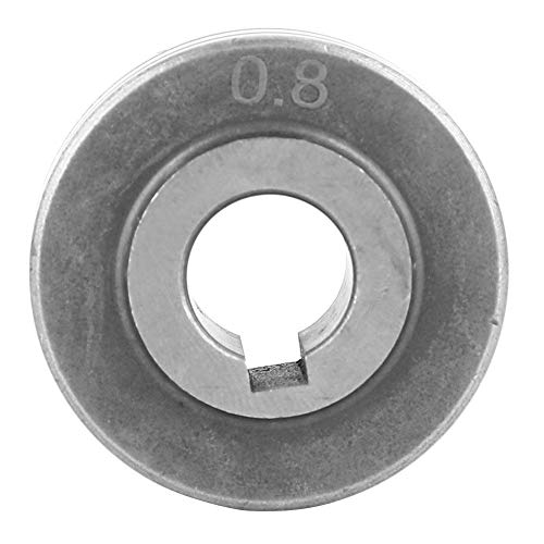 Zerone-Drahtvorschubrolle aus rostfreiem Stahl 0,8 oder 1,0 oder 1,2 oder 1,4 oder 1,6 Führungsrad für Schweißdrahtvorschub(0,8 mm)
