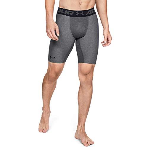 Under Armour Heatgear 2.0 Long Shorts Pantalón De Compresión, Hombre, (Carbon Heather/Black (090), L
